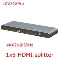 Real 4K 2K Full 3D 1x8 HDMI Splitter 1080P HDMI HDCP1 2 LKV318PRO HDMI Distribute For