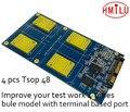 SSD NAND flash тест разъем для BGA152 132 100 88 LGA60 TSOP48 96 SM2246EN Контроллер Флэш-Памяти 4 в 1 Несколько PCB доска