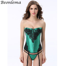 8efcaf1cd8 Beonlema Woman Slimming Sheath Purple Half Cup Corset Lace Lingerie  Underwear Shaping Body Binder Overbust Sexy