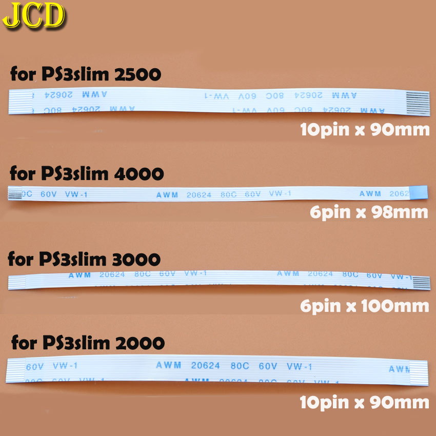 Image 5 - JCD 2pcs Charging PCB Board and Power switch Flex Cable For PS3 slim PS2 10pin 12pin 14pin Ribbon Flex Cable for PS4-in Replacement Parts & Accessories from Consumer Electronics
