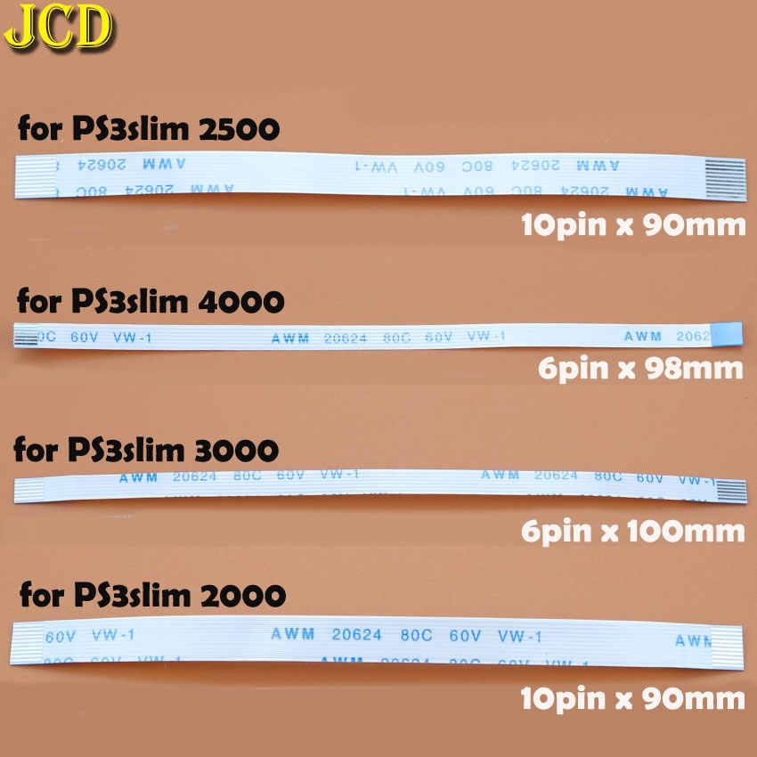 Jcd 2 Pcs Pengisian Papan PCB dan Tombol Power Kabel Fleksibel untuk PS3 Slim PS2 10pin 12pin 14pin Pita Flex kabel untuk PS4