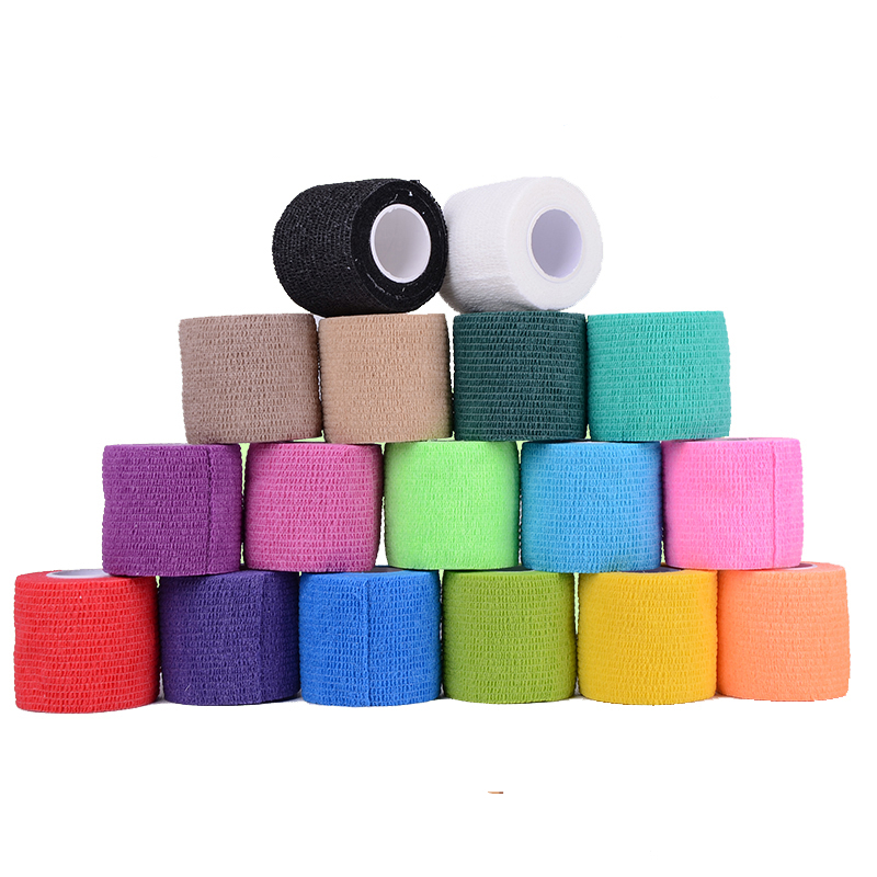450x5cm Self Adherent Wrap Strong Sports Tape Pressure Gauze Bandage Rolls For Wrist Ankle Drop Shipping 9 Colors