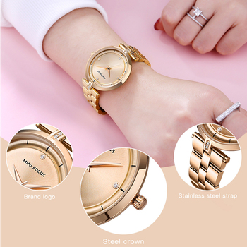 MINI FOCUS Watches Women Top Brand Luxury Quartz Watch Women Fashion Relojes Mujer Stainless Steel Ladies Quartz Wrist Watches 4