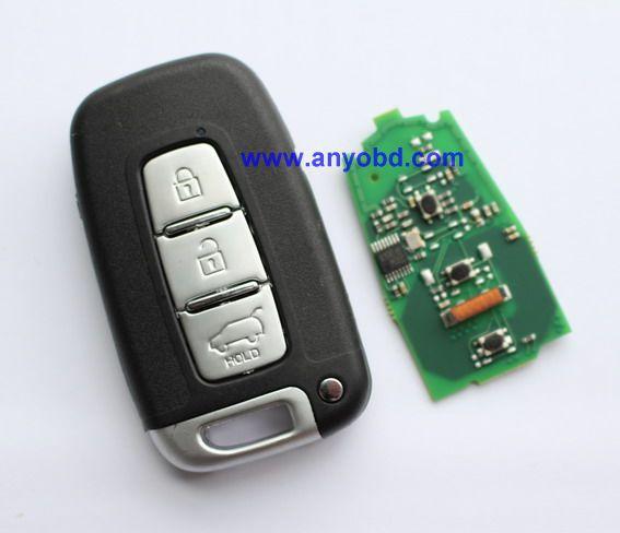 Prix pour Pour Hyundai i30, ix35, Sonata, Elantra, Santa Fe voiture fob 3 bouton Intelligent à distance clé 433 mhz, sans clé entrée push start