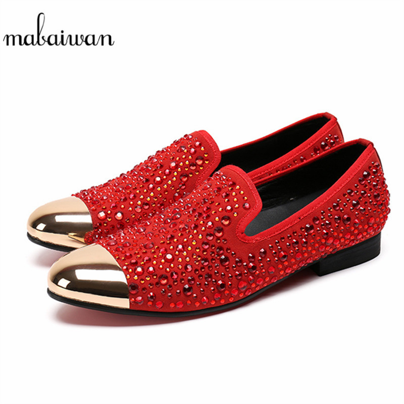 Mabaiwan Rhinestone Studded Flats Men Loafers Mens Casual Shoes Slip On Mens Tenis Creepers Espadrilles Mans Footwear Moccasins 2017 autumn fashion men pu shoes slip on black shoes casual loafers mens moccasins soft shoes male walking flats pu footwear