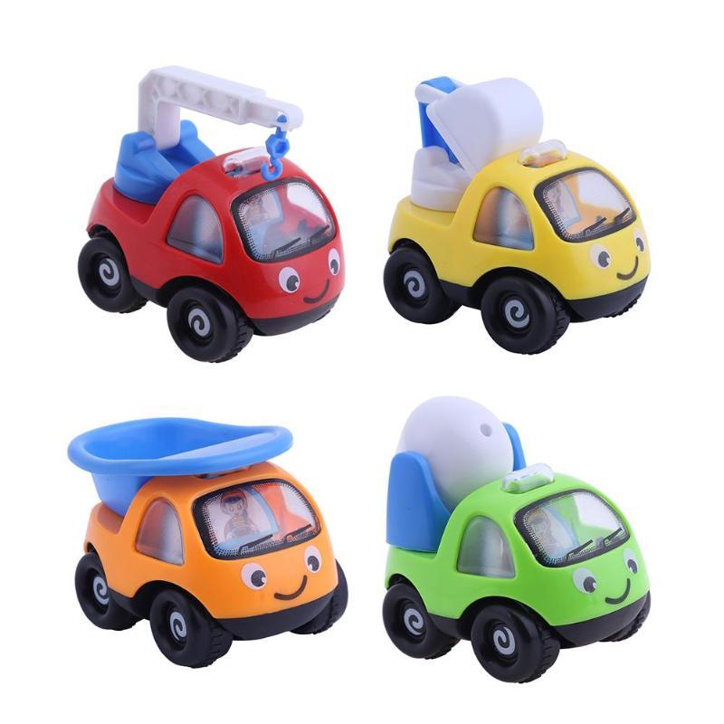 Kids Inertial Engineering Vehicle Model Children Classic Mini Truck Crane Toys Baby Cartoon Car Model Toy Boys Birthday Gifts