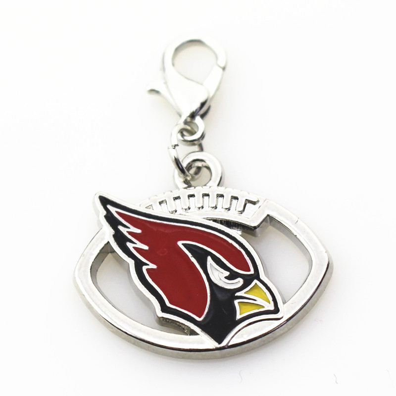 20pcs/lot Arizona Cardinals Charm team sports dangle charms DIY bracelet/necklace lobster clasp hanging charm jewelry accessory