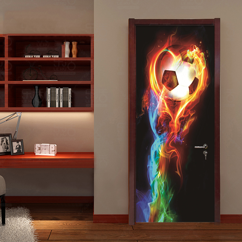 Photo Wallpaper 3D Stereo Colorful Fireball Murals Kids Bedroom Living Room Theme Hotel Door Sticker PVC Waterproof Wall Papers