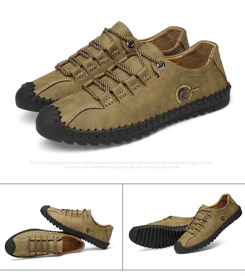 HTB1UcRdazzuK1Rjy0Fpq6yEpFXa2 - 2019 New Fashion Leather Spring Casual Shoes Men's Shoes Handmade Vintage Loafers Men Flats Hot Sale Moccasins Sneakers Big Size