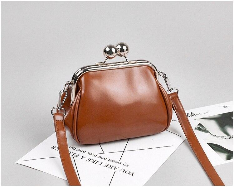 bags women leather shoulder crossbody bag women's handbag kiss lock bag (18)