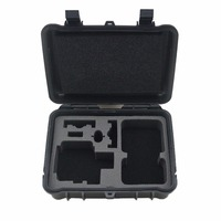 Lightdow Black Medium Plastic Shockproof Protective Storage Carry Case Box Shoulder Bag for Go Pro 6 5 4 3+ SJCAM Xiaoyi Camera