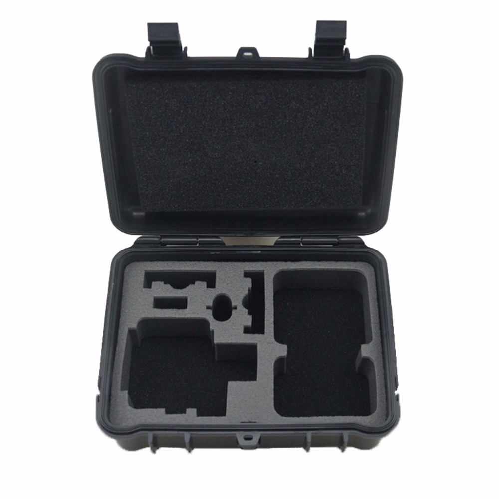 Lightdow noir moyen en plastique antichoc de protection de stockage étui de transport boîte sac à bandoulière pour Go Pro 6 5 4 3 + SJCAM Xiaoyi caméra