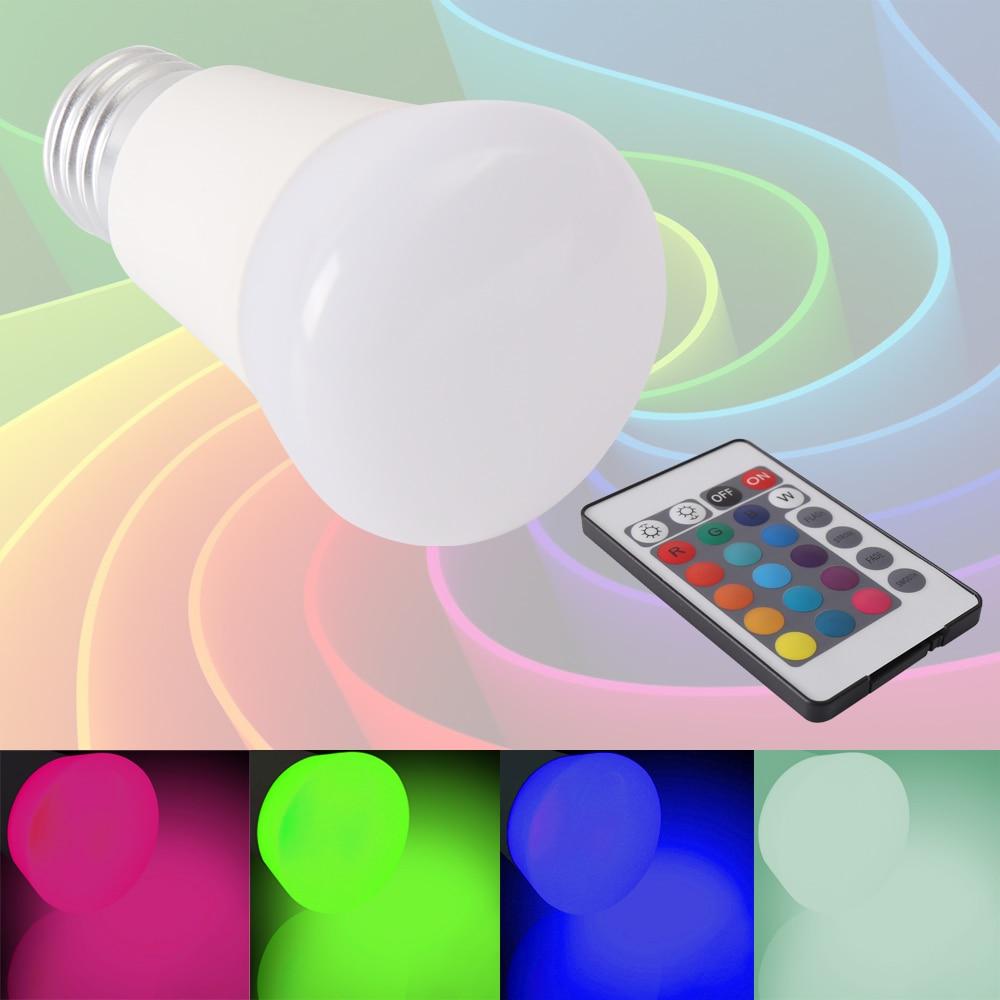 5pcs/lot NEW E27 3W RGB LED Lamp LED RGB Bulb 85-265V High Power LED Light Lamp Energy Saving With Remote