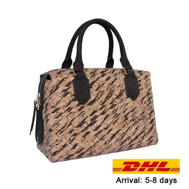 KAOGE Vegan Women Handmade Bag Eco-friendly Natural cork Handbags Women Famous Women crok Handbags Luxury Ladies Hand Bags eco friendly dyeing of silk with natural dye