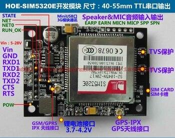 GPRS/3G module HOE-SIM5320E NEW module 5-28V power WCDMA NEW module 3g module sim5320e development board gsm gprs expansion board quad band antenna for arduino