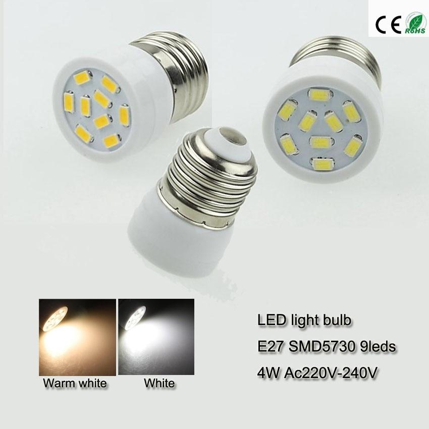 Indoor Led Light Bulbs: 5x Small Led Bulb E27 4 Watts Led Bulb Light Smd 5730