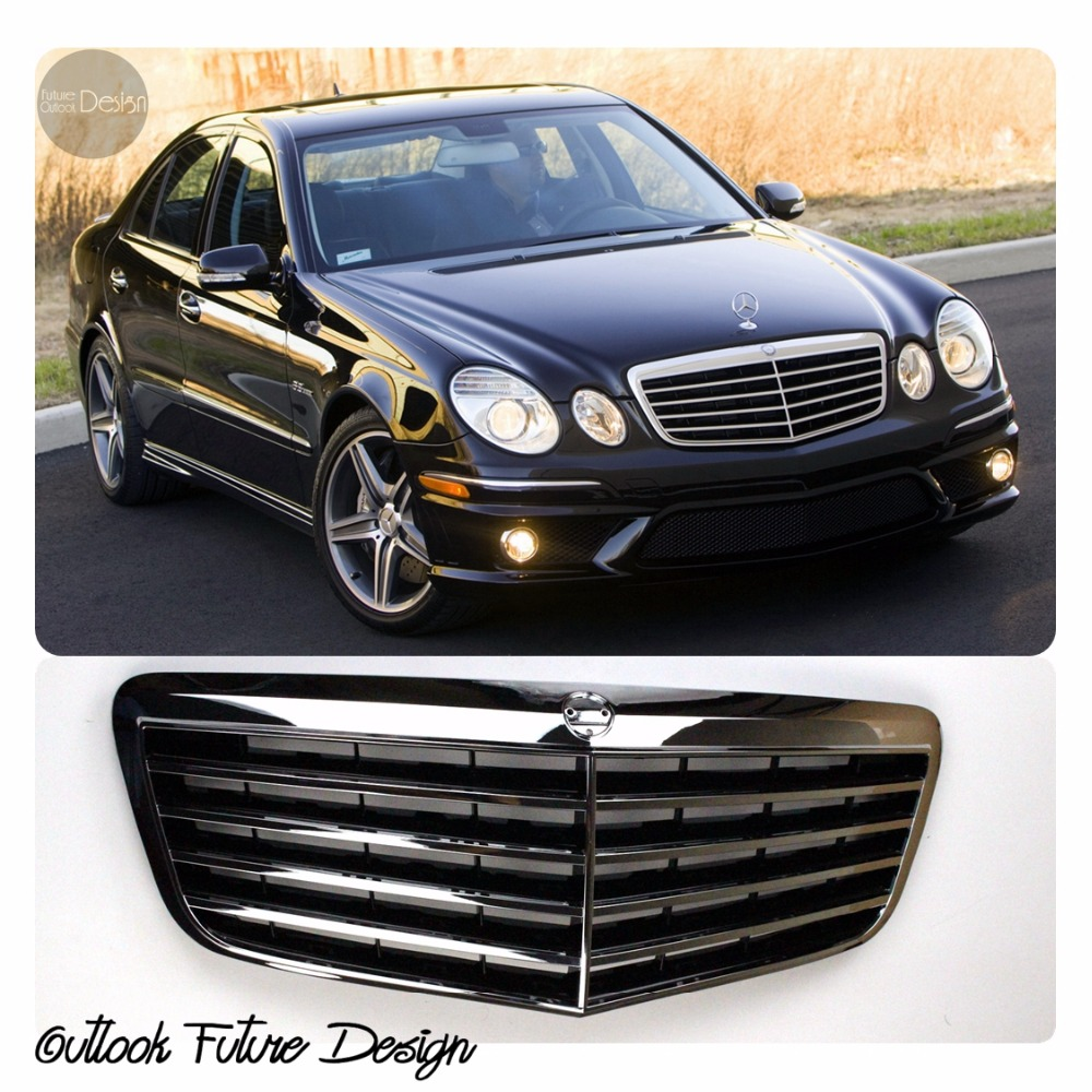 Car styling auto parts amg style front middle grill grille for Mercedes benz spare parts price list