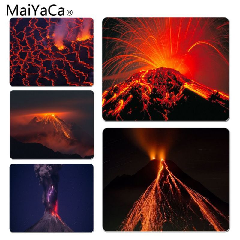 MaiYaCa Volcano Large Lockedge Mouse pad PC Computer mat Size for 25x29x0.2cm Gaming Mou ...