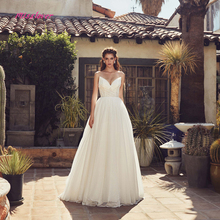 Simlple Silky Organza A-line Wedding Dress 2019