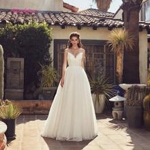 Simlple Silky Organza A-line Wedding Dress 2019