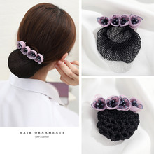 CHIMERA Bow Hair Clips Barrette for Women Bowknot Snood Net Bun Cover Fashion Accessories Elegant Hairpins Ladies