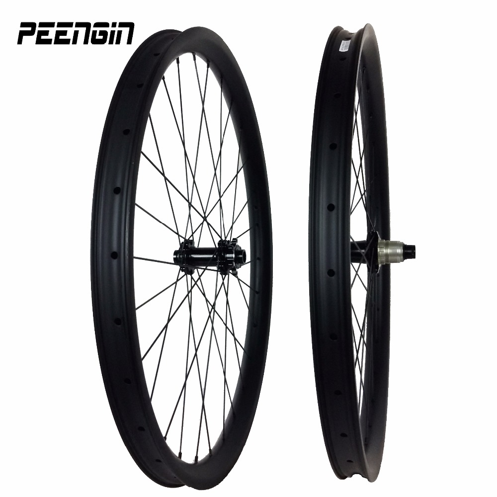 wheelset 650b carbon mountain wheels 40mm carbon Clincher MTB downhill wheelset Hookless Tubeless Compatible hot selling France factory direct mountain bike clincher wheelset 29 inch 27 5er carbon mtb wheels 29er 650b carbon mtb wheels tubeless rims