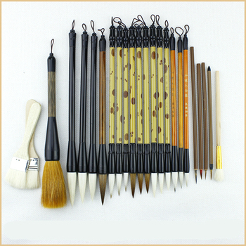 24pcs/set Luxury High Quality Calligraphy Brush Pen Set Chinese Landscape Painting Brushes S/M/L Regular Script Writing Brushes 1