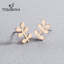 Todorova New Arrival Plant Metal Women Stud Earrings for Women Little Grass Earrings Fashion Jewelry Accessories(China)