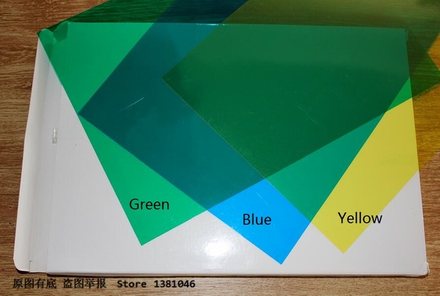 20 Sheets/Pack 0.2mm A4 Clear Transparent Colored Plastic PVC ...