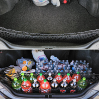 120 65cm Car Trunk Net Bag Organizer Holder Storage Elastic Hammock Holder Mesh W Hooks