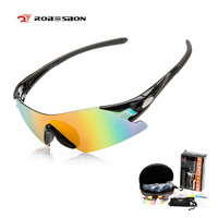 ROBESBON 5 Lens Cycling Sunglasses Frame Men Women UV400 Polarized Eyewear Outdoor Sports Mountain Bike Oculos