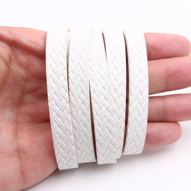XCHARMS 10MM Flat PU Leather Cord Braid Rope Diy Jewelry Findings Accessories Fashion Jewelry Making Materials for Bracelets 2