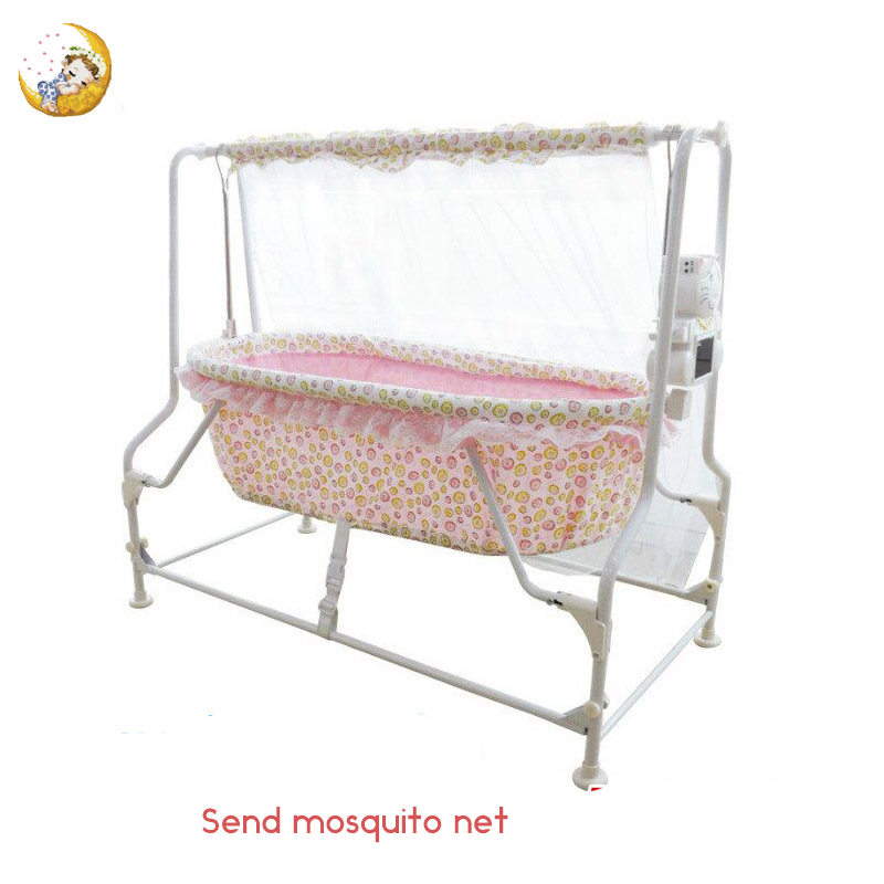 Bao Baoshuang Intelligent Multifunctional Electric Baby Cradle Bed Newborn Bb Automatic Rocking Is Small To Sleep ppimi electric baby cradle automatic baby rocking chair table chair intelligent soothing sleep cradle bed with roller