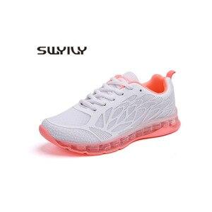 Image 5 - SWYIVY Chun Giày Nữ Giày Nữ Giày 2019 Mới Thu Lưới Màu Trắng Giày Cho Nữ Giày Nữ Nông Nữ Giày