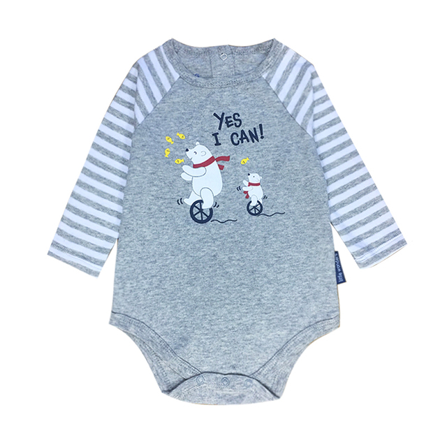 b3b3fcedd70b Baby Girls Boys Clothes Newborn Babies Long Sleeve 100%Cotton Letter  Cartoon Print Infant Romper