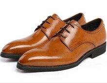 Высокое качество Коричневый/черный мужские ботинки платья свадебная обувь из натуральной кожи формальные рабочая обувь мужская бизнес обувь бесплатная доставка