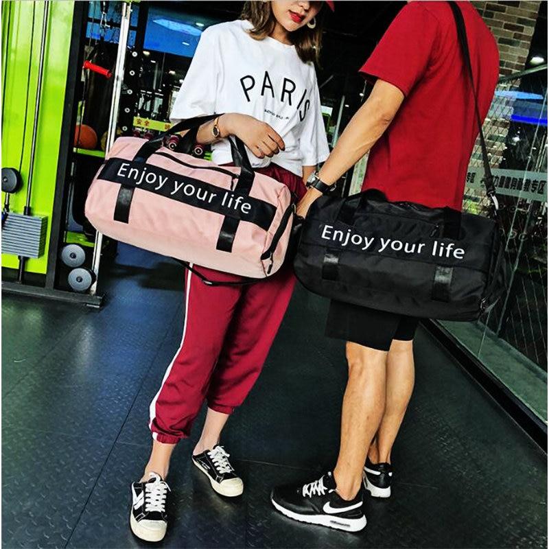 ff0295476440 ... Men Black Nylon Waterproof Gym Bag Independent Shoe Position Luggage  Storage Handbag Outdoor Travel Bags. AXT1 AXT2. AXT3. Name  Pink black gym  bag