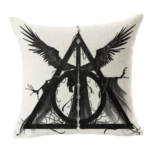 TOX Harry Potter Style Fodere per Cuscini 45x45 cm alce cassa del Cuscino Decorativo Per La Casa Sedia Sedile e la Vita Cuscini Quadrati copertura