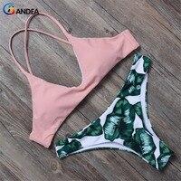 BANDE Women Bikini Set Brazilian Bikini 2017 Swimwear Women Padded Swimsuit Biquini Halter Swimwear Bikinis De