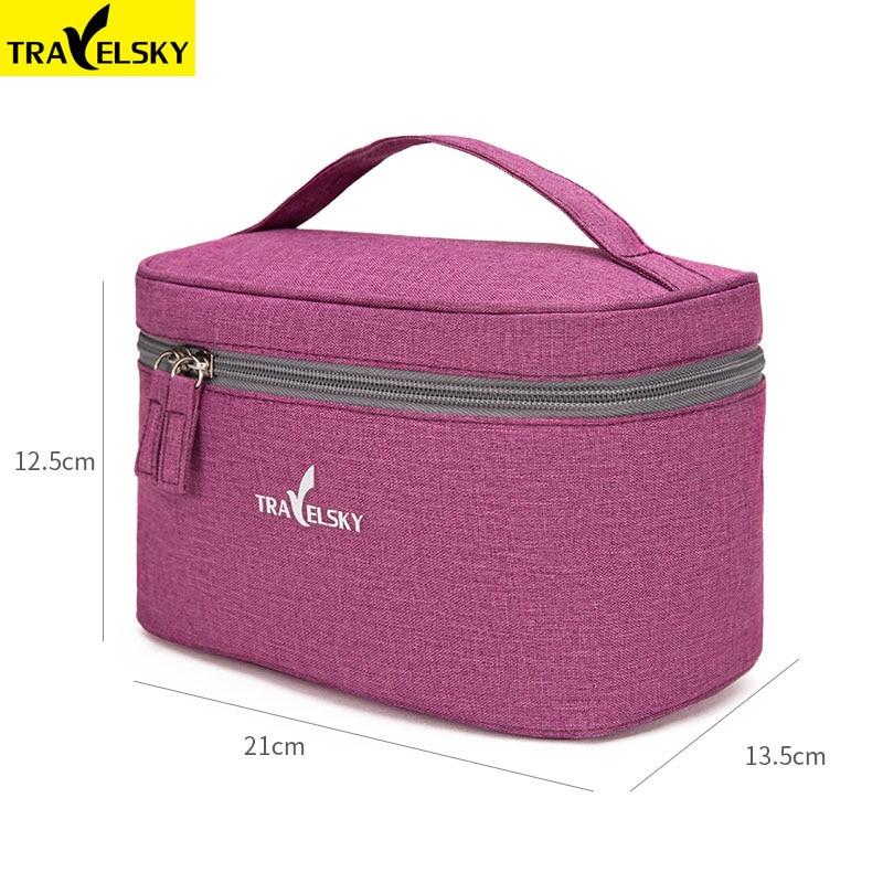 Travelsky New Portable Travel Cosmetic Bag Women Waterproof  Makeup Bag Men Cosmetics Case Pouch Toilet Make Up Zipper Bags