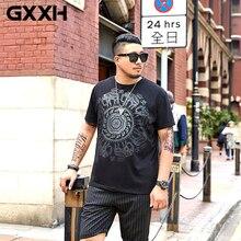 GXXH мужская летняя футболка с короткими рукавами больших размеров, Хлопковая мужская летняя футболка с принтом слона
