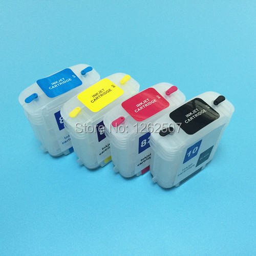 69ML HP82 HP510 CH565A C4911A C4912A Empty Refillable Ink Cartridge With Arc Chips For HP Designjet 510 82 Plotter Printer hp ch565a 82 black картридж для designjet 111 510