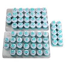 Бесплатная доставка FDA высокое качество 26 шт. пластик Uppercase, строчные буквы и 10 цифр Форма Торт помадка формы набор (3 компл./лот)