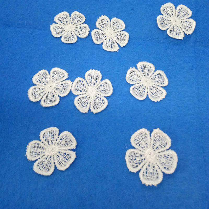 שנהב רקום תחרה אפליקצית תיקון מוטיב פרח לתפירה חתונה שמלת תחרה DIY קרפט צעיף תחרה פרח