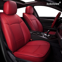 kokololee Custom Leather car seat covers For SsangYong Rodius ActYon Rexton Chairman Kyron Korando Tivolan Automobiles Seats
