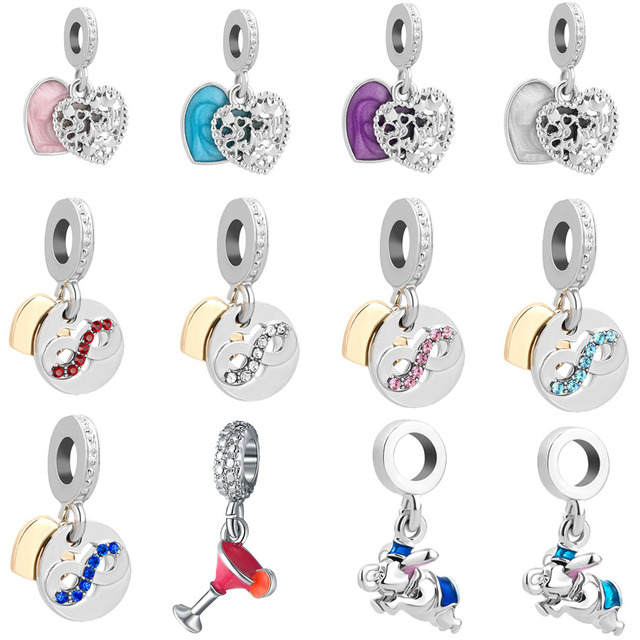 b20dd5820 free shipping 1pc silver love make a family inifinity elephant hanging bead  charms Fits European Pandora Charm Bracelets mix019