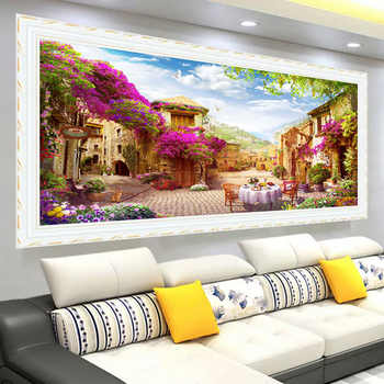 New Large Living Room Decorative Diamond Painting 5d diy Beautiful Garden Landscape Diamond Embroidery Scenery Diamond Mosaic