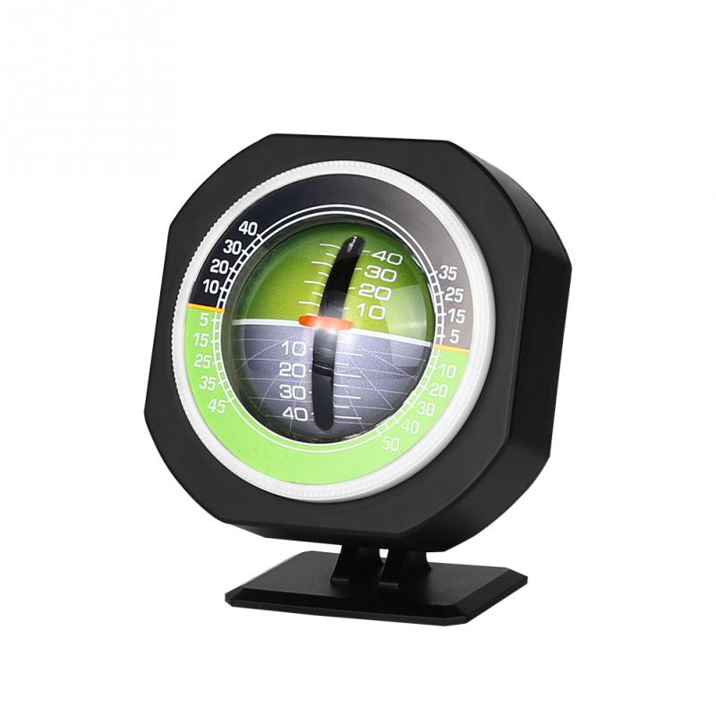 Car Compass,Outdoor Luminous High-Precise Vehicle-borne Slope Meter Car Compass Tilt Angle Inclinometer Measure Equipment