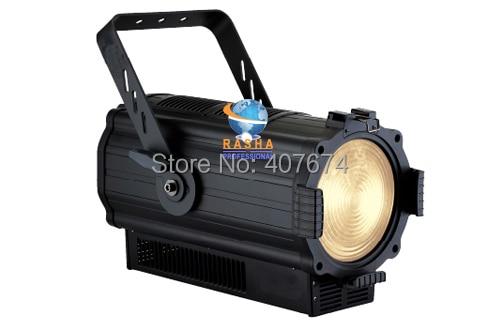 NEW ARRIVAL 200W COB White LED Profile Wash With Dimmer,Zoom,Strobe Function,DMX512 TV Studio Light,Ellipsoidal Light 110 240V