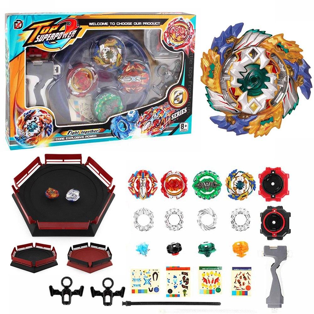 Toupie Kai Watch Land Arena Beyblades de fusión metálica Fafnir Avec lanzador Dios Spinning Top Bey Blade hojas clásico juguetes para los niños